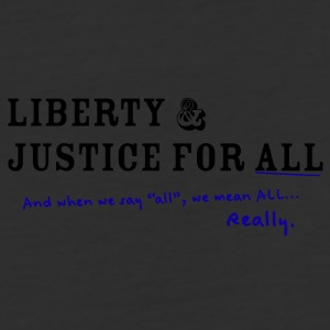 Liberty and Justice for ALL - Baseball T-Shirt