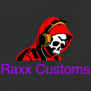 SKULL RAXX CUSTOMS logo red - Baseball T-Shirt
