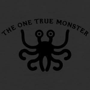 the one true monster BLACK - Baseball T-Shirt