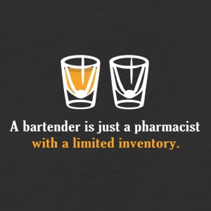 A Bartender Is Just A Pharmacist With A Limited In - Baseball T-Shirt