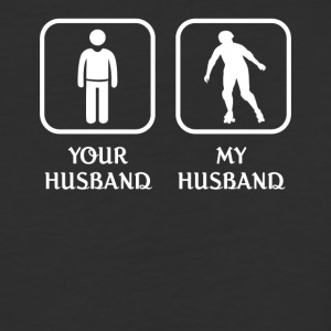 Husband Roller Skating Love- cool shirt,geek hoodi - Baseball T-Shirt