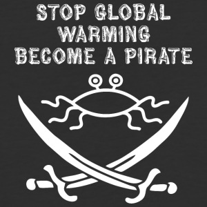 stop global warming and become a pirate FSM white - Baseball T-Shirt