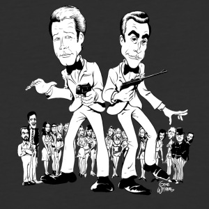 Gwiz Art Moore & Connery 007 Tribute - Baseball T-Shirt