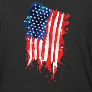 Flag of The United States of America brush stroke - Baseball T-Shirt