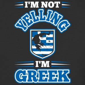 Im Not Yelling Im Greek - Baseball T-Shirt