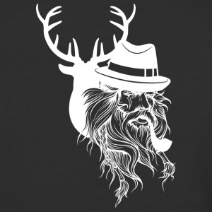 Old hunter and deer - Baseball T-Shirt