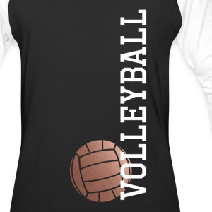 Vertical Rose Gold Volleyball - Baseball T-Shirt