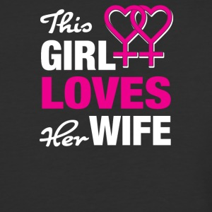 This girl loves her wife! - Baseball T-Shirt