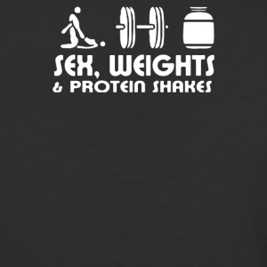 SEX-WEIGHT-AND-PROTEIN-SHAKES HUMOUR - Baseball T-Shirt