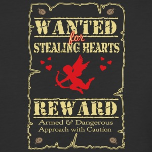 Wanted For Stealing Hearts - Baseball T-Shirt