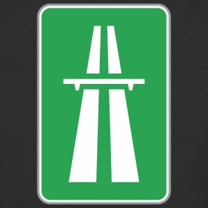 Road_sign_green_way - Baseball T-Shirt
