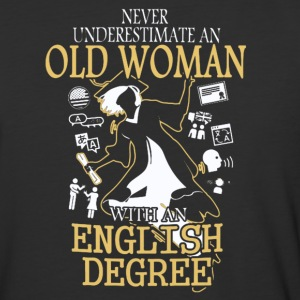 OLD WOMAN WITH A ENGLISH DEGREE T-SHIRT - Baseball T-Shirt