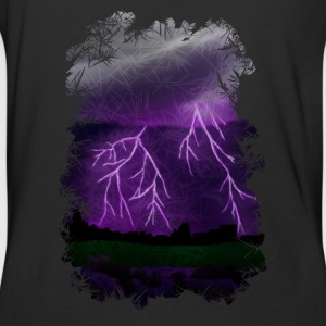 Purple Lightning Scene - Baseball T-Shirt
