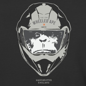 The Two Wheeled Ape Big Head Design Light - Baseball T-Shirt