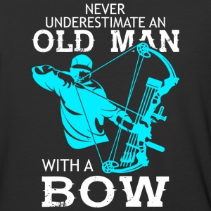 Old Man With A Bow T Shirt - Baseball T-Shirt
