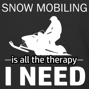 Snow Mobiling is my therapy - Baseball T-Shirt