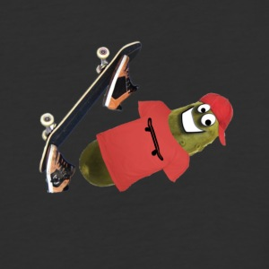 Skateboard Pickle Ollie - Baseball T-Shirt