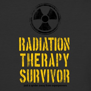 Radiation Therapy Survivor Yellow and Black - Baseball T-Shirt