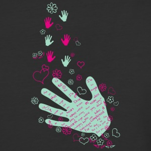 Hands and flowers - Baseball T-Shirt