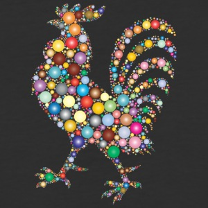 Colorful Rooster - Baseball T-Shirt