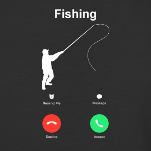 Fishing calling shirt - Baseball T-Shirt