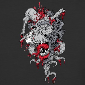 zombie ape with axe on head - Baseball T-Shirt