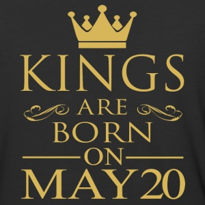 Kings are born on May 20 - Baseball T-Shirt