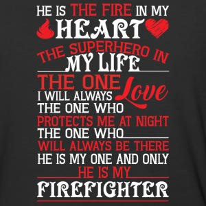 He Is My Firefighter T Shirt - Baseball T-Shirt