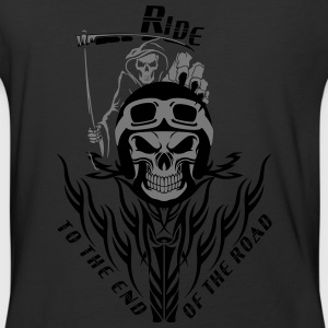 Biker Reaper Ride To The End Of The Road - Baseball T-Shirt