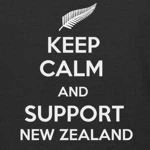 Keep Calm and support New Zealand - Baseball T-Shirt