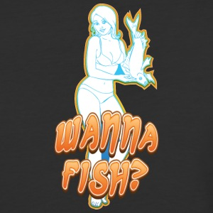 sexy_girl_offering_fish - Baseball T-Shirt