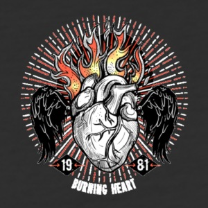 Burning Heart - Baseball T-Shirt