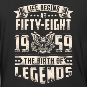 Life Begins At Fifty Eight Tshirt - Baseball T-Shirt