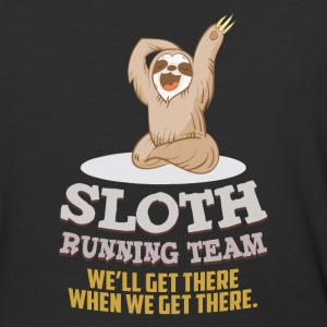 Sloth running team We'll get there - Baseball T-Shirt