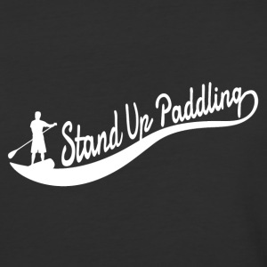 Stand Up Paddling - Wave Man - Baseball T-Shirt
