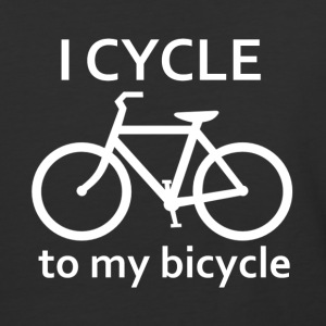 I Cycle to my Bicycle - Baseball T-Shirt