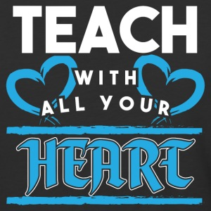Teacher! Passion! With heart! - Baseball T-Shirt