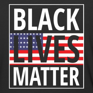 Black lives matter US flag - Baseball T-Shirt