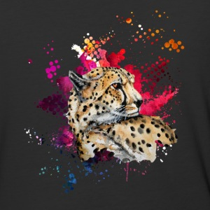 Cheetah Watercolor Tee Shirt - Baseball T-Shirt