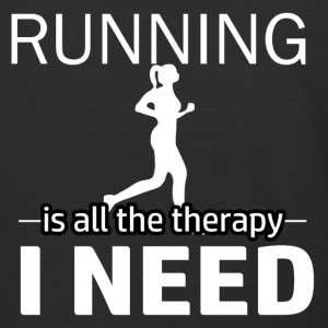 Running is my therapy - Baseball T-Shirt