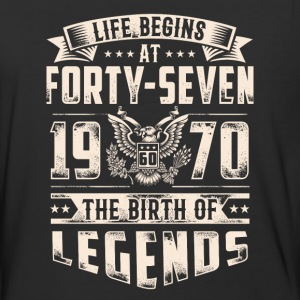 Life Begins At Forty Seven tshirt - Baseball T-Shirt