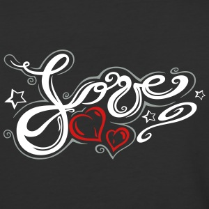 Love logo, Tribal and Tattoo style - Baseball T-Shirt