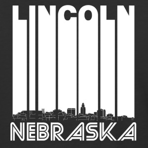 Retro Lincoln Nebraska Skyline - Baseball T-Shirt