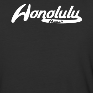 Honolulu Hawaii Vintage Logo - Baseball T-Shirt