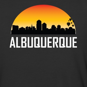 Sunset Skyline Silhouette of Albuquerque NM - Baseball T-Shirt
