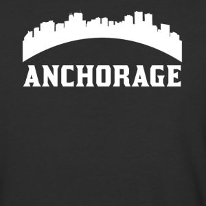 Vintage Style Skyline Of Anchorage AK - Baseball T-Shirt