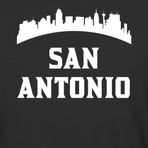 Vintage Style Skyline Of San Antonio TX - Baseball T-Shirt