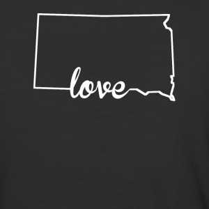 South Dakota Love State Outline - Baseball T-Shirt