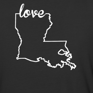 Louisiana Love State Outline - Baseball T-Shirt