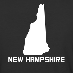 New Hampshire State Silhouette - Baseball T-Shirt